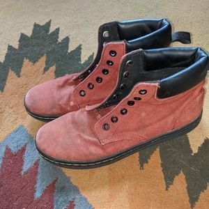 Dr. Martens burgundy boot/sneakers